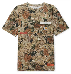 Heron Preston + Carhartt Oversized Embroidered Printed Cotton-Jersey T-Shirt