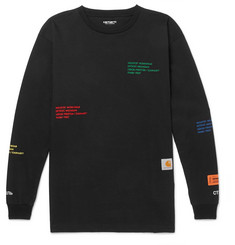 Heron Preston + Carhartt Oversized Embroidered Cotton-Jersey T-Shirt