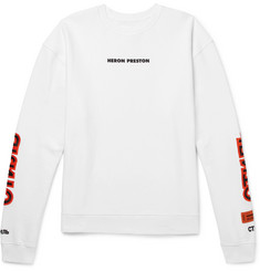 Heron Preston Oversized Embroidered Fleece-Back Cotton-Jersey Sweatshirt