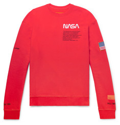 Heron Preston + NASA Oversized Logo-Detailed Loopback Cotton-Jersey Sweatshirt