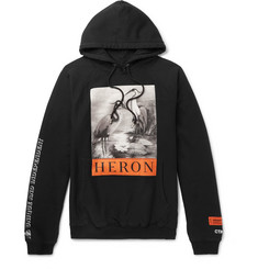 Heron Preston Printed Cotton-Jersey Hoodie