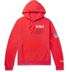 Heron Preston + NASA Embroidered Printed Cotton-Jersey Hoodie