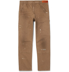 Heron Preston + Carhartt Cotton-Canvas Trousers
