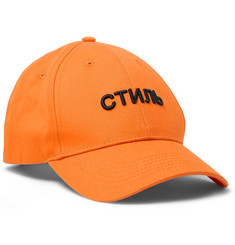 Heron Preston Embroidered Cotton-Twill Baseball Cap