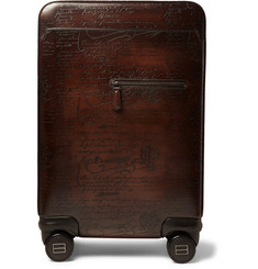 Berluti Formula 1004 Scritto Leather Rolling Suitcase