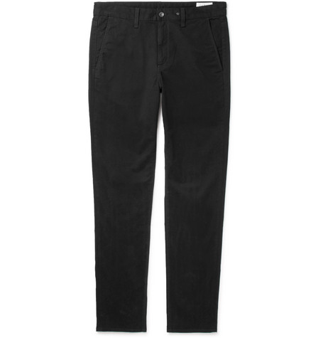 Slim Fit Cotton Blend Twill Chinos by Rag & Bone
