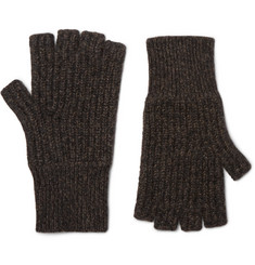랙앤본 에이스 핑거리스 장갑 그레이 Rag & Bone Ace Fingerless Melange Cashmere Gloves,Gray