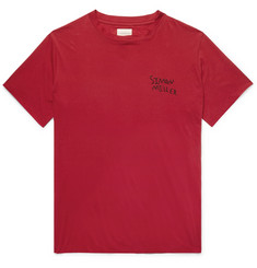 SIMON MILLER Logo-Embroidered Cotton and Silk-Blend T-Shirt
