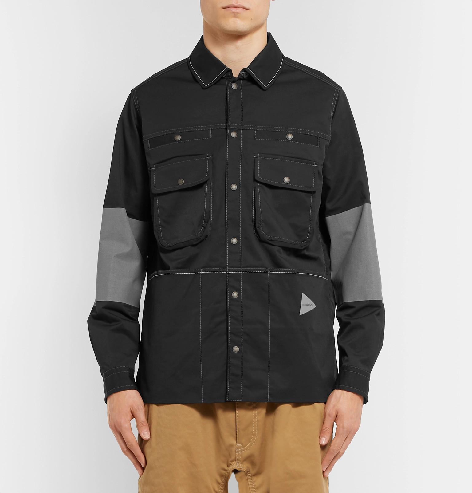 Wanderandover And Jacket Shirt Panelled Reflective Cordura zSvZBw