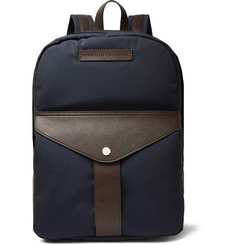 Brunello Cucinelli Full-Grain Leather and Nylon Backpack