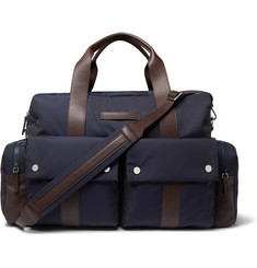 Brunello Cucinelli Nylon and Full-Grain Leather Holdall