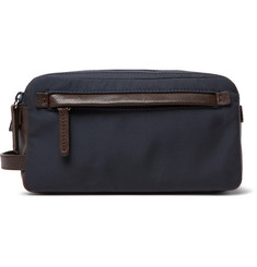 Brunello Cucinelli Full-Grain Leather and Nylon Wash Bag