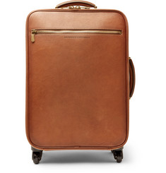 Brunello Cucinelli Burnished Full-Grain Leather Carry-On Suitcase