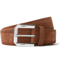 Brunello Cucinelli 3cm Brown Suede Belt