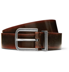 Brunello Cucinelli - 3cm Dark-Brown Burnished-Leather Belt