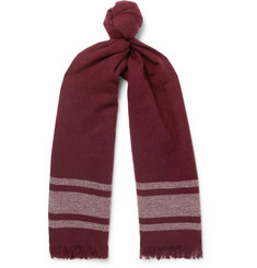 Brunello Cucinelli - Fringed Striped Cashmere Scarf