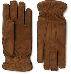Brunello Cucinelli - Cashmere-Lined Suede Gloves