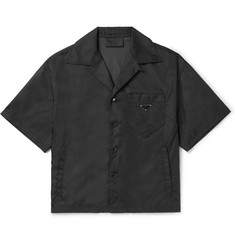 Prada Camp-Collar Nylon-Gabardine Shirt