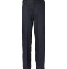 Prada Wide-Leg Logo-Appliquéd Cotton-Drill Trousers