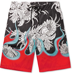 Prada Printed Long-Length Swim Shorts