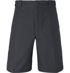 Prada Wide-Leg Logo-Detailed Twill Shorts