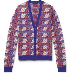 Prada Slim-Fit Virgin Wool and Cashmere-Blend Jacquard Cardigan