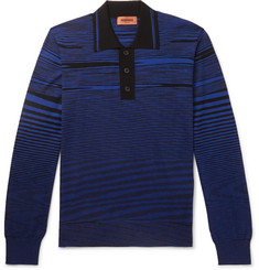 Missoni - Striped Wool Polo Shirt