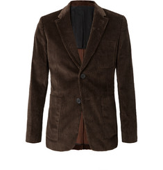 AMI Brown Cotton-Corduroy Blazer
