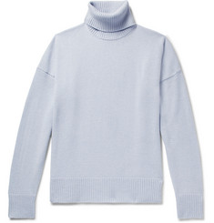 AMI Oversized Merino Wool and Cashmere-Blend Rollneck Sweater