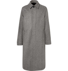 AMI Oversized Herringbone Wool-Blend Coat