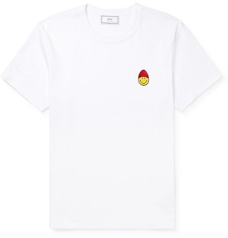 + The Smiley Company Appliquéd Cotton Jersey T Shirt by Ami