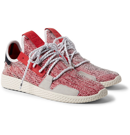 + Pharrell Williams Solarhu V2 Primeknit Sneakers - Red