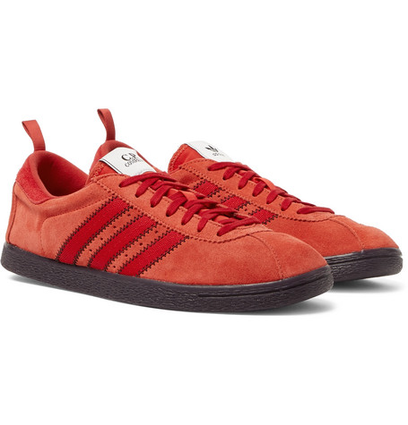 Adidas Consortium C.P. Company Tobacco Suede Sneakers In Red