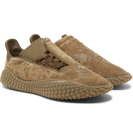 d02012faa2e741 Adidas Consortium Neighborhood Kamanda Suede Sneakers In Army Green
