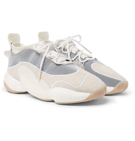 new product c3dbd 131d5 Adidas Consortium + Bristol Studio Crazy Byw Lvl Ii Suede And Mesh Sneakers  - Off-