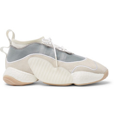 adidas Consortium + Bristol Studio Crazy BYW LVL II Suede and Mesh Sneakers