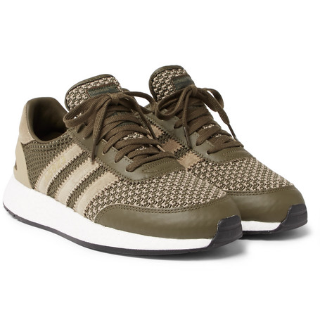 ea4a2d5636aaf adidas Consortium+ Neighborhood I-5923 Suede and Leather-Trimmed  Stretch-Knit Sneakers