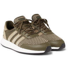 adidas Consortium - + Neighborhood I-5923 Suede and Leather-Trimmed Stretch-Knit Sneakers