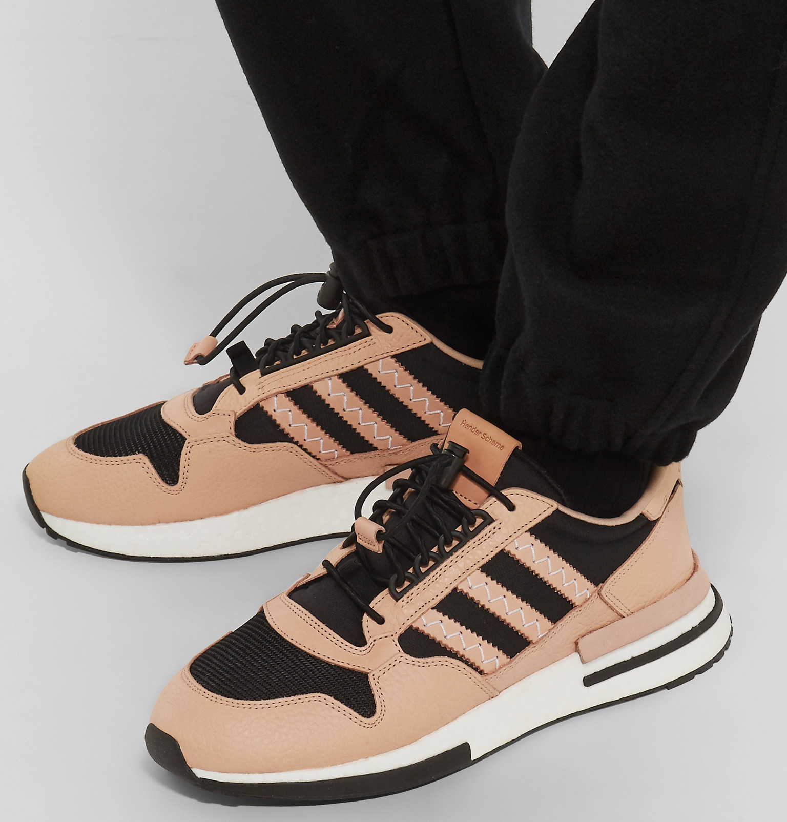huge selection of 080e5 a0a81 adidas Consortium - + Hender Scheme ZX 500 RM MT Leather and Mesh Sneakers