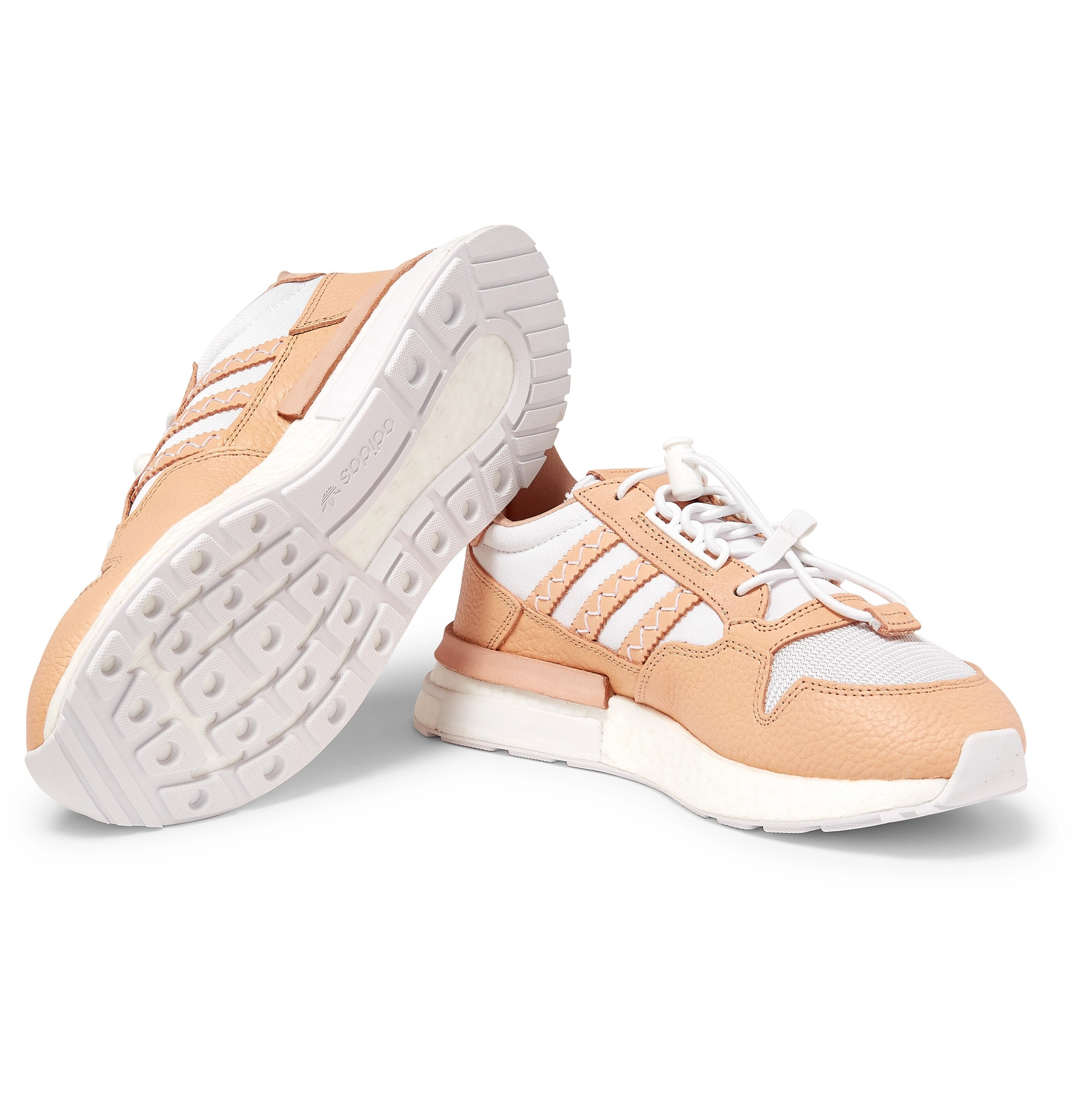 a49abff5bbaa1 adidas Consortium+ Hender Scheme ZX 500 RM MT Leather and Mesh Sneakers