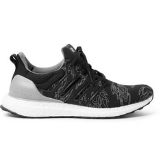 adidas Consortium + Undefeated UltraBOOST Rubber-Trimmed Primeknit Sneakers
