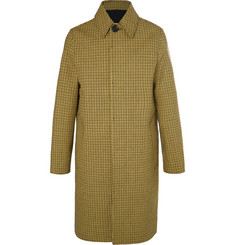 AMI - Oversized Houndstooth Virgin Wool and Cotton-Blend Coat