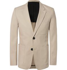 아미 슬림핏 자켓 AMI Beige Slim-Fit Cotton-Twill Suit Jacket,Beige