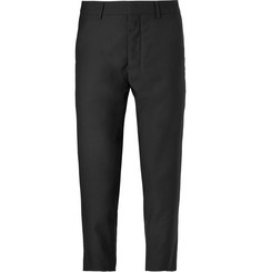 AMI Cropped Slim-Fit Wool Trousers