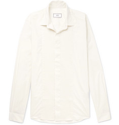 AMI Bib-Front Cotton-Poplin Shirt