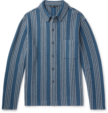 oversized-striped-wool-and-cashmere-blend-shirt by haider-ackermann