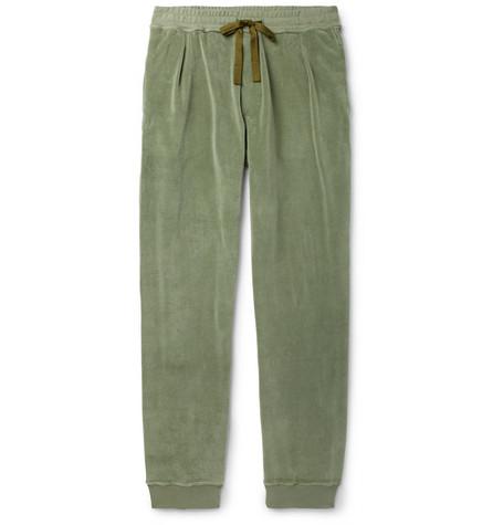 tapered-cotton-blend-velvet-sweatpants by haider-ackermann