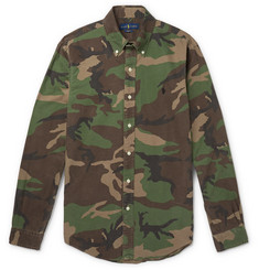 Polo Ralph Lauren - Slim-Fit Button-Down Collar Camouflage-Print Cotton-Oxford Shirt