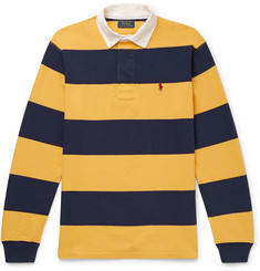 Polo Ralph Lauren Twill-Trimmed Striped Cotton-Jersey Polo Shirt
