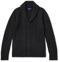 Polo Ralph Lauren Shawl-Collar Cable-Knit Wool and Cashmere-Blend Cardigan